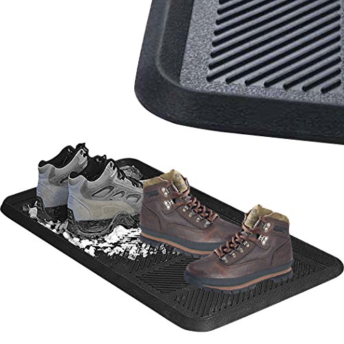 SafetyCare Heavy Duty Flexible Rubber Boot Tray Door Mat - 32 x 16 Inches - 2 Mats by SafetyCare (Image #8)
