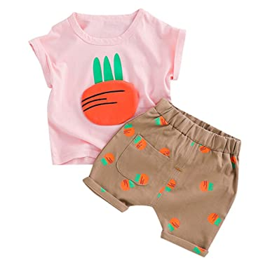 Amazon.com: Traje de bebé para niño de 2 piezas, 0 – 2 años ...