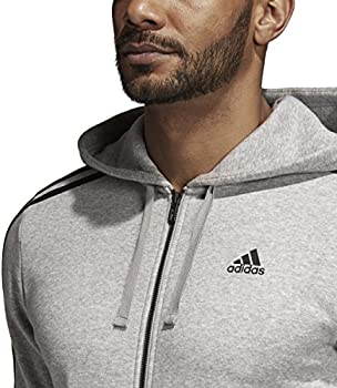 adidas Men's Athletics Essential Cotton Fleece Full Zip