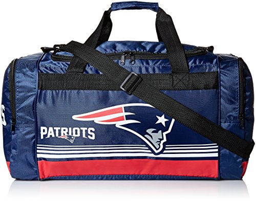- New England Patriots Medium Striped Core Duffle Bag