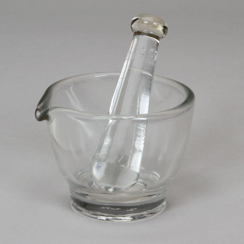 Mortar and Pestle, Glass, 2 oz