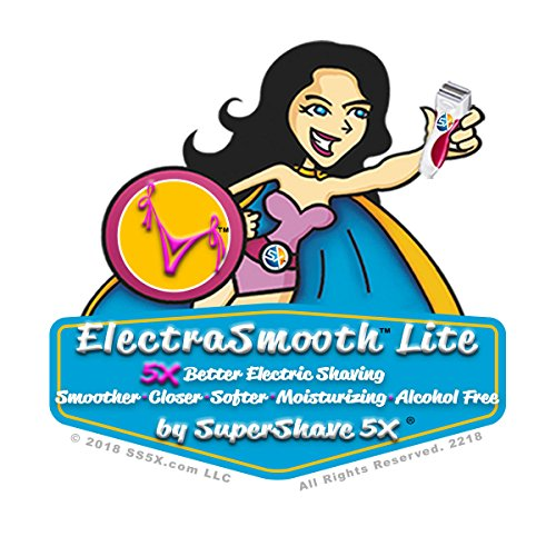 ElectraSmooth Lite For Women - Electric Shaving Lotion for a Smoother Closer Softer Moisturizing Alcohol Free Shave by SuperShave 5X (Image #1)