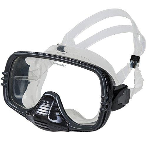 IST Dynasty single lens purged mask, 06-Carbon fibre pattern Dynasty Single