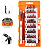 S2 Steel Screwdriver Set, 60 in 1 Precision Screwdriver Kit with 56 Magnetic Driver Bits, Professional Electronics Repair Tool Kit for iPhone/iPad/PC/Glasses/Laptop/Camera/Other Electronics Devices
