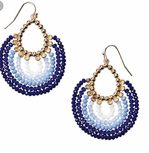 Shades of Blue Beaded Earrings