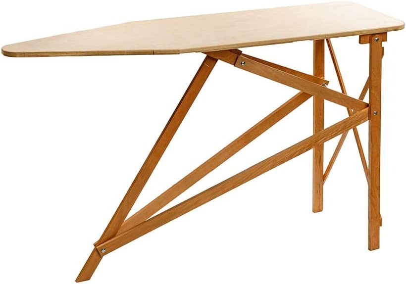 Amish-Made Wooden Ironing Board Natural Finish