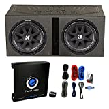 12 inch subwoofer and amp package - 2) Kicker 43C124 600W 12