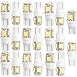 Lot de 20 ampoules à LED 5-SMD T10 W5W 168 194 Blanc