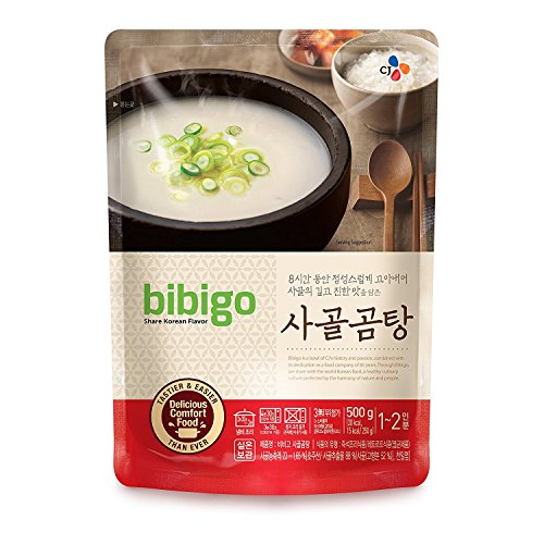 bibigo Korean Beef Bone Broth Soup, 17.6oz (Pack of 16)