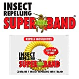 SUPERBAND 400 Pack All Natural Mosquito Repellent Bracelets - Guaranteed to Work - No Messy Lotions, Sprays, or Plastic - Fast & Easy! 30 Day Money Back Guarantee