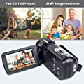 Video Camera HD Video Camcorder - Upgraded Version 1080P Camcorder Full HD Digital Video Camera, 3.0 Inch LCD 270 Degree Rotatable Screen 16X Digital Zoom YouTube Video Camera