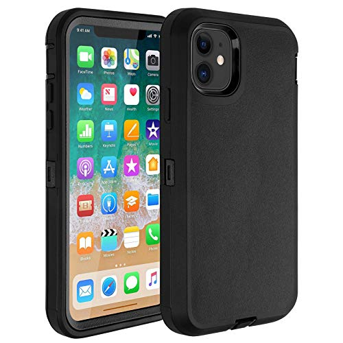 Co-Goldguard Case for iPhone 11,Heavy Duty Durable Hard Cover Built-in Screen Protector Full Coverage 3 in 1 Reinforced Dust-Proof Shockproof Scratch Resistant Shell Fit for iPhone 11 6.1