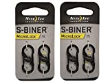 MicroLock Steel S-Biner 2 Pack Color:Black