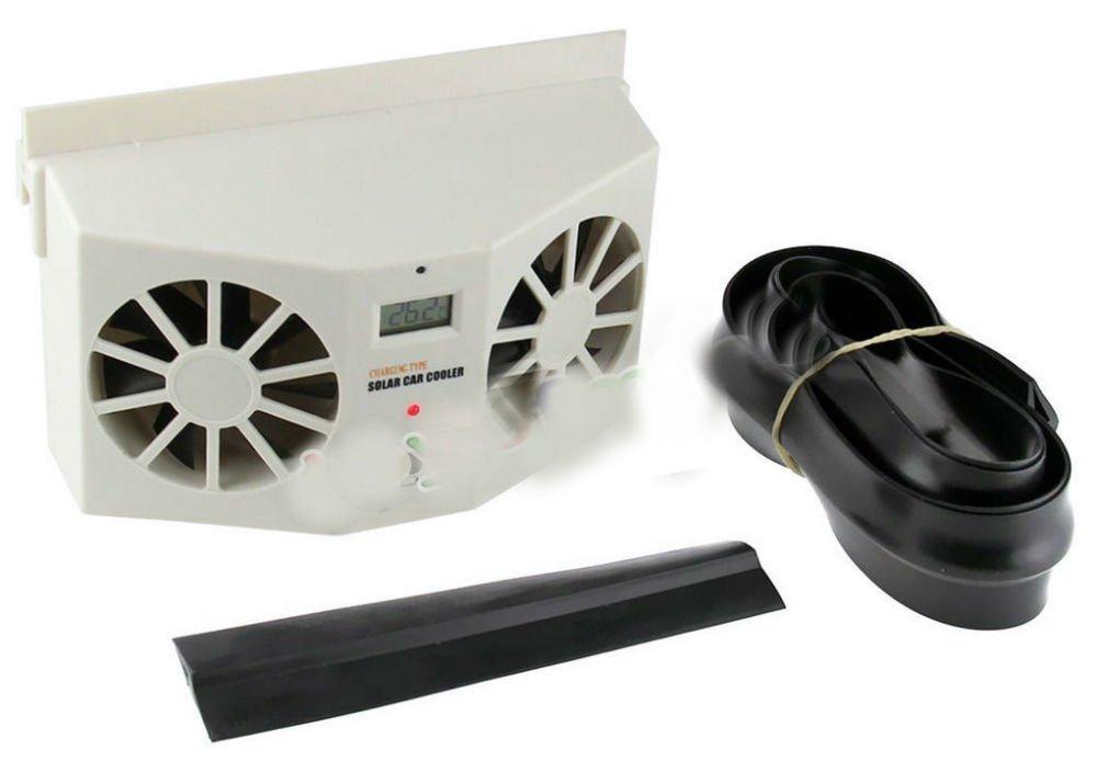 Solar Power Car Window Fan Auto Ventilator Cooler Air Vent Vehicle Ventilation