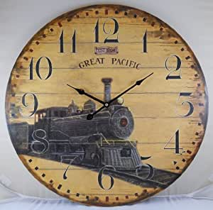 23 Antique Style Great Pacific Railroad Wall