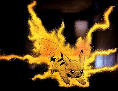 Pikachu Thunder Shock Lightning Attack Pokemon Metal Art Painting