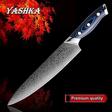 Amazon.com: Cuchillo de chef 8 inch Blue Series Damasco ...
