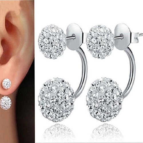 Price comparison product image Hemlock Women Lady Shinning Crystal Pendant Earrings Ear Stud (Silver)