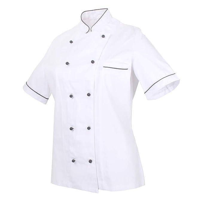 MISEMIYA - Cocina Uniformes Bar Restaurante Chaquetas Chef COCINERA Mangas  Cortas - Ref.848B  Amazon.es  Ropa y accesorios 8ceeb9617c0