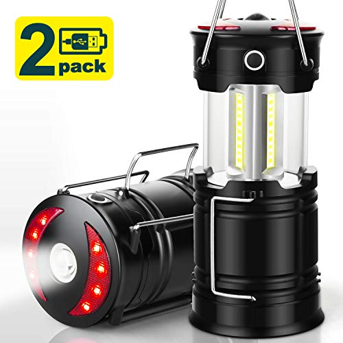 Best rechargeable lantern - EZORKAS 2 Pack Camping Lanterns, Rechargeable Led Lanterns, Hurricane Lights with Flashlight and Magnet Base for Camping, Hurricane, Hiking, Emergency, Outage
