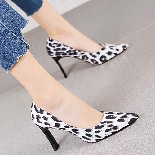 HRCxue Pumps Persönlichkeit Gitter Spitze Dicke Absätze Damenmode Spitze einzelne Schuhe, 38, Aprikose