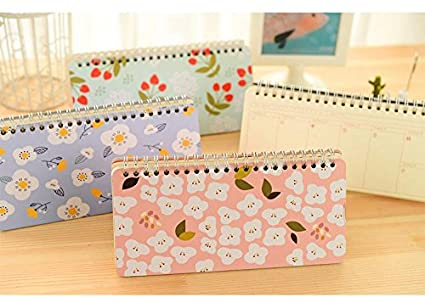 Amazon.com : New Japanese Cute Floral Flower Schedule Book ...