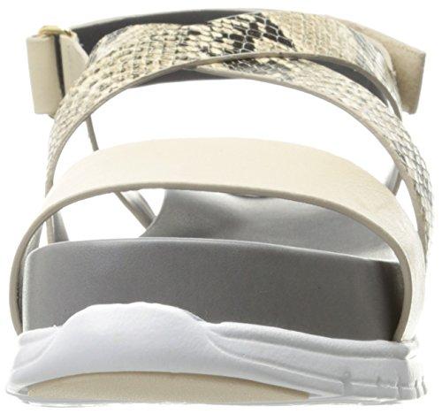 Cole Haan Donna Zerogrand Criss Croce Gladiatore Sandalo Roccia Stampa Serpente / Sandshell / Bianco Ottico