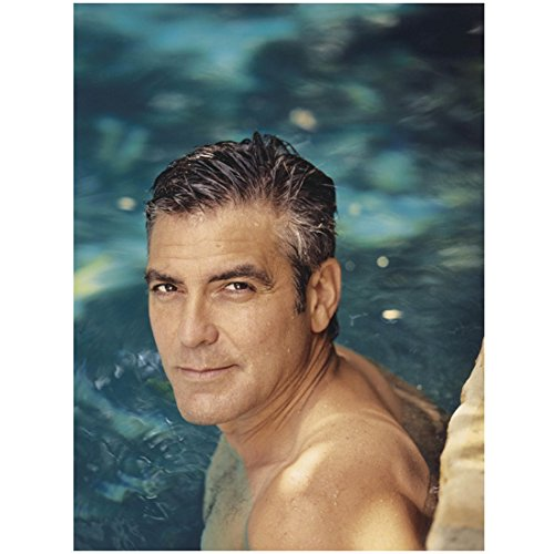 George Clooney 8 X 10 Photo in Water Shirtless Wet Hot kn Photograph