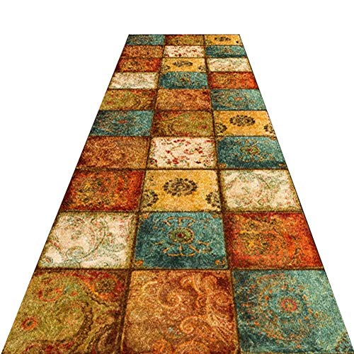 LXJYMX Aisle Runner Aisle Runner/Retro Low Pile Thermal Printing Corridor Anti-Slip Carpet/Living Room Sound-Absorbing Carpet/a Variety Corridor Runner (Size : (Best Sound Absorbing Carpets)