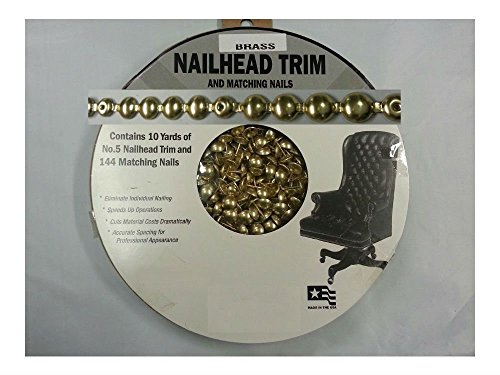 30 Feet Upholstery BRASS- GILT- GOLD Tackstrips Roll Nail Strip Nailhead Trim (Brass Nailhead Trim)