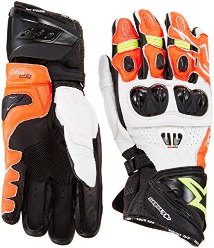 Alpinestars Men's GP Pro R2 Leather Glove (Black/White/Red/Yellow, X-Large)