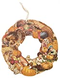 ''Happy Thanksgiving'' Vintage Wood Wreath