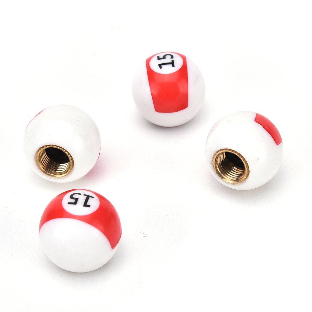 15' Billiard Ball/Pool Ball Dust Caps, Set Of 4 Fits Onto Car, Bike Or Motorbike Valves. ARH Auto Accessories