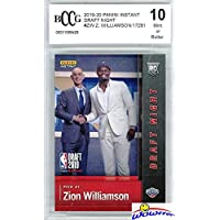 $89 » ZION WILLIAMSON 2019 Panini Instant FIRST EVER PRINTED ROOKIE Card Graded BECKETT 10…