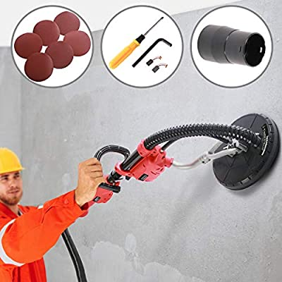 Lijadora de Pared con Barra Extensible - Ø225mm, 750W, inclus 6 ...