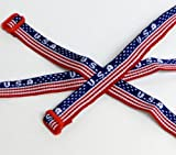 USA Woven Friendship Bracelets (1 dozen) - Bulk