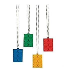 Brick Building Block Party Necklaces - 24 Count