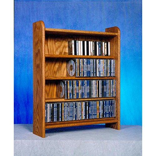 4 Shelf CD Storage (Honey Oak) by Wood Shed