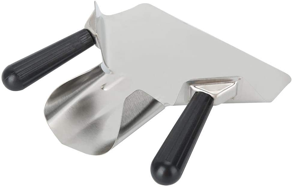 Double Handle 7.7 x 8.9 x 3.4 in French Fries and Popcorn Bagger Stainless Steel Commercial Scoop with Handle