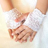 White Lace Fingerless Gloves for toddler baby girl Steampunk Wedding Easter