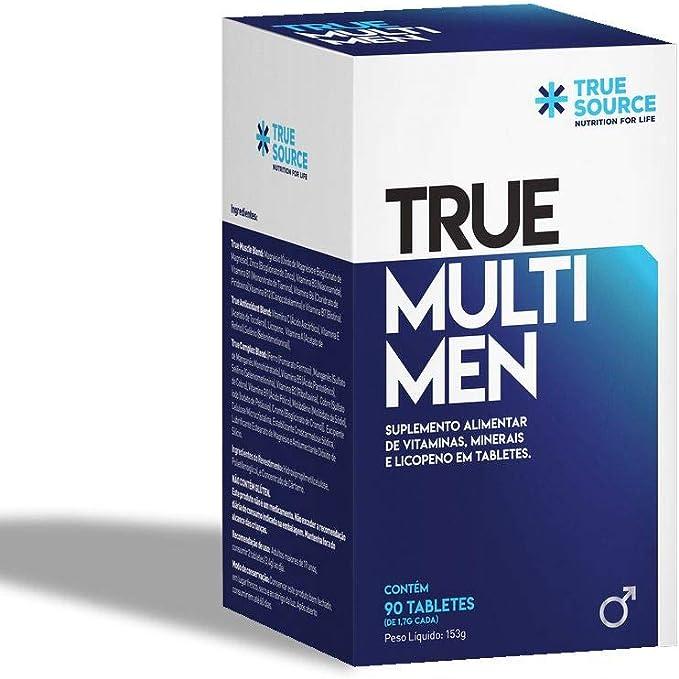 Multivitamínico Homens True Multi Men com Coenzima Q10 90 tabletes - True Source por True Source