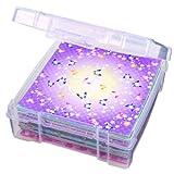 ArtBin 6953AB Essentials Storage Box, 6 x 6-Inch, Translucent Clear