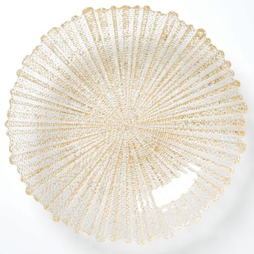 Bowl Decorative Vietri - Vietri Rufolo Glass Gold Large Serving Bowl