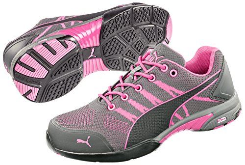PUMA Safety 642915 Women's Celebrity Knit SD Low Shoe, Pink - 9.5 (Women Pink Puma Shoes)