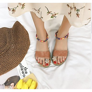 Soles RTRY Summer Light Sandals Walking Pu US6 EU36 Casual Flat Dress Black Women'S White Mary Marylight Buckle Heel Soles CN36 UK4 Flat rptwCnxrq