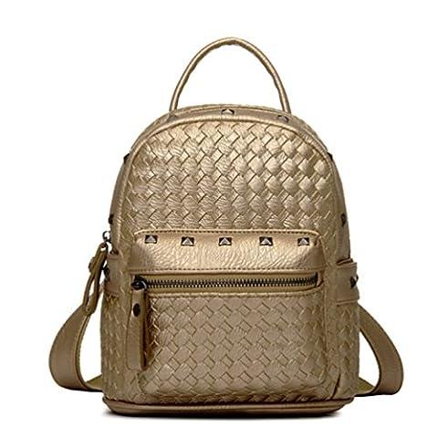 Tiny Chou(TM) Girls Mini Woven Spikes PU Leather Backpacks Cute Travel Daypack (Flap Satchel Handbag)