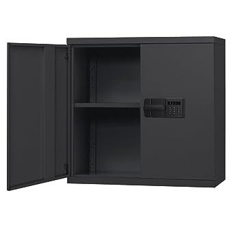 Sandusky Lee Armario de pared de acero, cerradura electrónica sin llave, 1 estante ajustable
