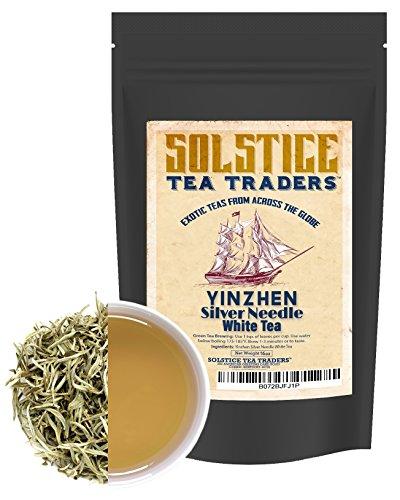 Silver Needle White Tea, Yinzhen China Loose Leaf White Needle Tea, Solstice Tea Traders Bulk- 16oz