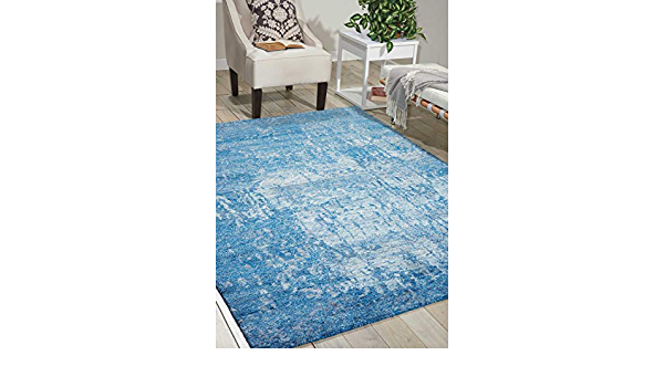 Amazon Com Nourison Silk Shadows Sha10 Ocean Rectangle Area Rug 5 Feet 6 Inches By 7 Feet 5 Inches 5 6 X 7 5 Furniture Decor