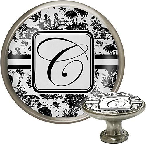 Toile Cabinet Knob (Silver) (Personalized)